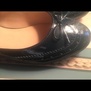 Cole Haan Shoes - NEW! Cole Haan Green-Blue Wingtip Patent Flats